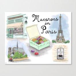 Macarons in Paris Canvas Print