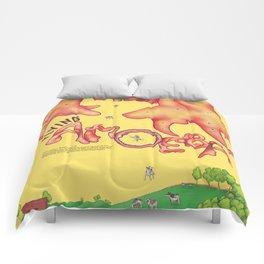 Flying Amoeba (Atmospheric Beasts Poster 2 of 3) Comforters