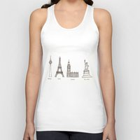 cities Tank Tops featuring Cities by johanna strahl