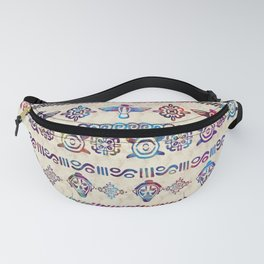 Maya / Aztec Gentle Watercolor pattern Fanny Pack