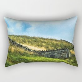 Painterly Fields Rectangular Pillow