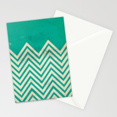 TEXTURED TEAL CHEVRON Stationery Cards