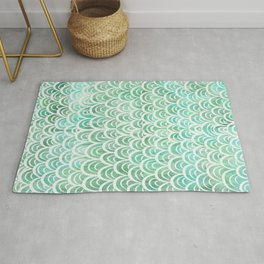 Watercolor Mermaid Rug