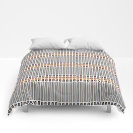 Geometric Stripes Seamless Vector Pattern Art Deco Comforters