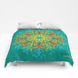 Gracias a la Vida (Turquesa) Comforters