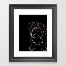Bulldog Pup Framed Art Print