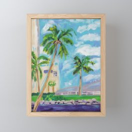 city of palms Framed Mini Art Print