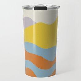 Over The Sunset Mountains Travel Mug