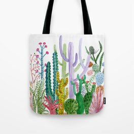 Succulent Happy Garden Tote Bag
