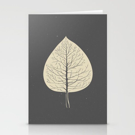 Tree-leaf Stationery Cards