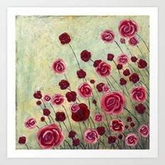 Stonewashed Garden Art Print