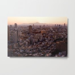 The View of Mt Fuji from the Top of Tokyo Tower Metal Print