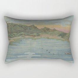 Lake view 2. Ukiyoe Landscape Rectangular Pillow