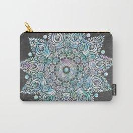 Mermaid Mandala on Deep Gray Carry-All Pouch