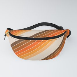 Tan Candy Stripe Fanny Pack