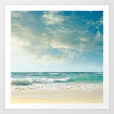 beach love tropical island paradise Art Print