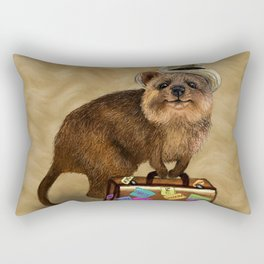 Traveller // quokka Rectangular Pillow