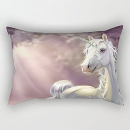 Unicorn in the forest Rectangular Pillow