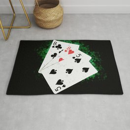 Blackjack Card Game, 21 Count, Eight Eight Five Combination Rug