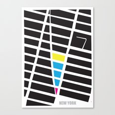 City Map New York Canvas Print