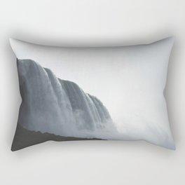 From below where all the water falls, Niagara 01 Rectangular Pillow