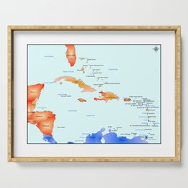 Caribbean Islands Serving Tray