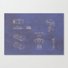 Transformer Blueprints Canvas Print