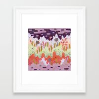 crystal Framed Art Prints featuring Crystal Forest by LordofMasks