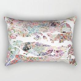 Stockholm map Rectangular Pillow
