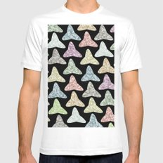 Pattern #37 MEDIUM White Mens Fitted Tee