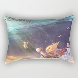 Ship of Pirates Rectangular Pillow