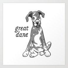 Dog Breeds: Great Dane Art Print