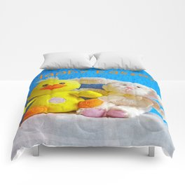 Happy Easter Chick + Bunny Comforters