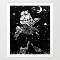 Sobaloopsian Father & Son Art Print