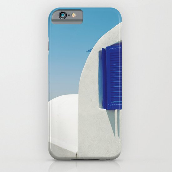 Santorini Blue & White Window iPhone & iPod Case