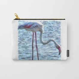 Balance of Nature Flamingo Watercolor Carry-All Pouch