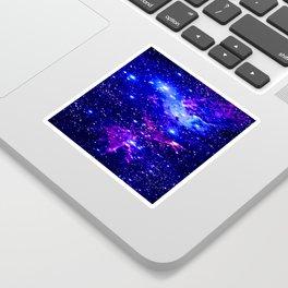 Fox Fur Nebula Galaxy blue purple Sticker