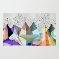 geometry Area & Throw Rugs featuring Colorflash 3 by Mareike Böhmer