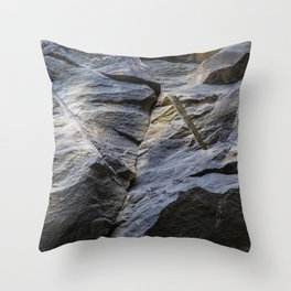 Slate fracture Throw Pillow