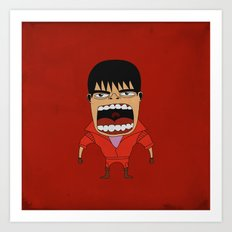 Screaming Kaneda Art Print