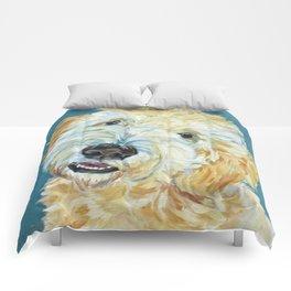 Stanley the Goldendoodle Dog Portrait Comforters
