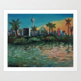 Oasis - Summer in Berlin Art Print