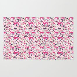 Park dogs in Pink Rug