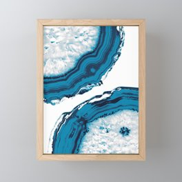 Blue Agate #2 #gem #decor #art #society6 Framed Mini Art Print