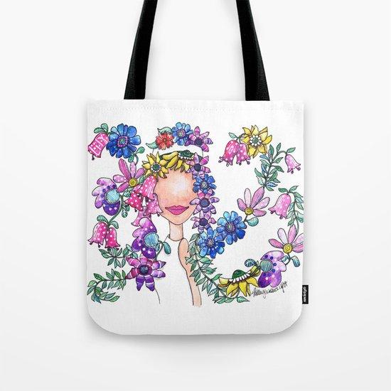 Flowers in Her Hair Tote Bag
