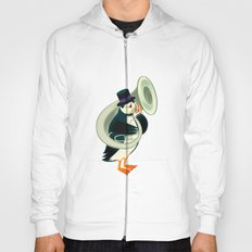 Puffin On A Tuba Hoody