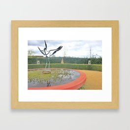 Garden Fountain Framed Art Print