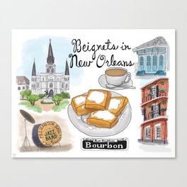 Beignets in New Orleans, Louisiana Canvas Print
