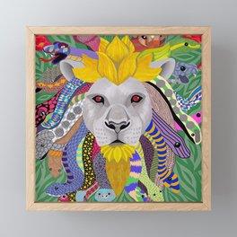 Medusa Lion(ess) Framed Mini Art Print