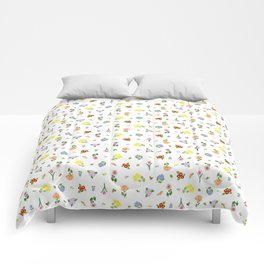 Flowers and More Flowers Comforters